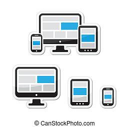 Responsives Design für Web-Icons Set