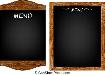 Restaurant-Menü-Vorstand mit Text