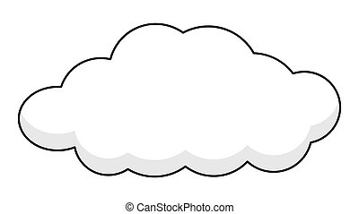 Retro Cloud Banner.