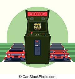 Retro Videogame Arcade-Rundrahmen.