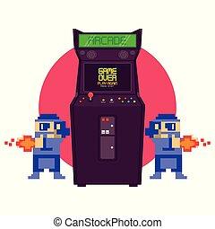 Retro Videospiel Arcade Maschine.