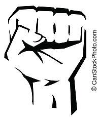 Revolutionshandvektor illustriert