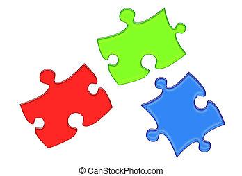 RGB Puzzleteile