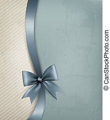 ribbon., papier, altes , hintergrund, feiertag, geschenk, vektor, schleife