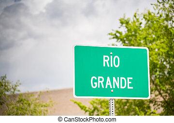 Rio Grande Zeichen.