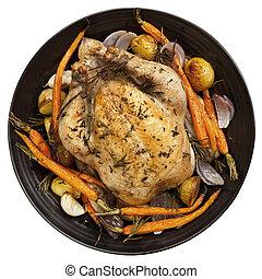 Roast Chicken Dinner Top View