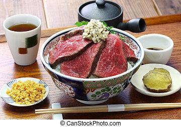 Roastbeef, japanische Küche.