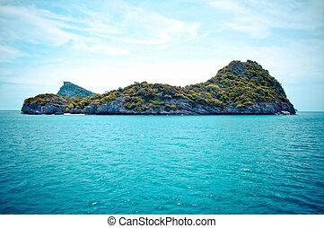 Rocky Island in Ang-thong Marine Park, Thailand.