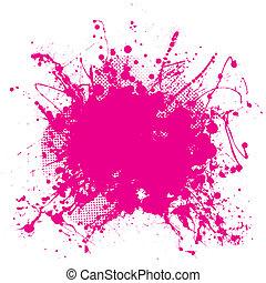 rosa, grunge, splat