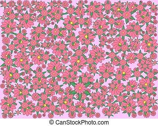 rosa, illustration., farbe, licht, abstrakt, hintergrund., sakura, blüten