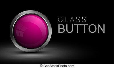 rosa, taste, glas, interface., runder , software