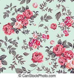 Rose nahtloses Muster.