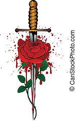 Rose und Dolch
