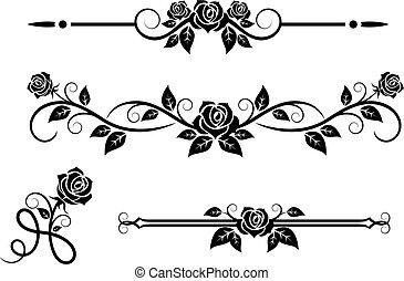Rosenblumen mit klassischen Elementen