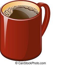 Rote Tasse Kaffee
