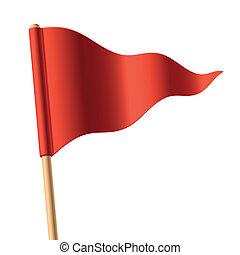 Rote Triangular-Flagge