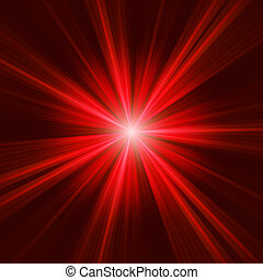 Roter Stern im dunklen Hintergrund. EPS 8