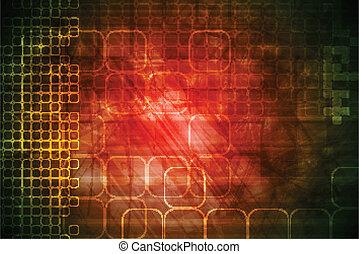 Roter, technischer Hintergrund