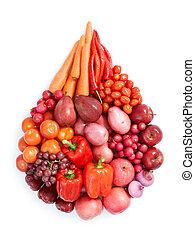 Rotes gesundes Essen