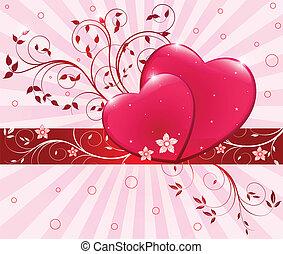 Rotes Herz illustriert