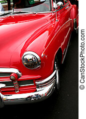 Rotes klassisches Auto