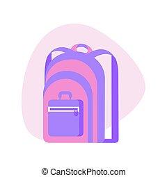 rucksack, wohnung, ikone