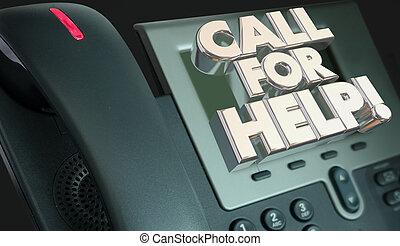 Rufen Sie Hilfe Kundenservice Telefon 3D Abbildung.