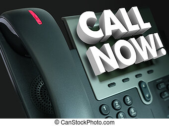 Rufen Sie jetzt Bürotelefon-Kundendienst-Werbung.