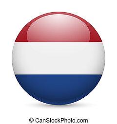 Rund glänzende Ikone des Netherlands