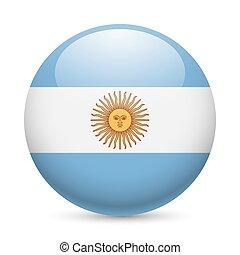 Rund glänzende Ikone von Argentina