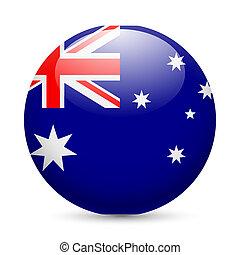 Rund glänzende Ikone von Australien