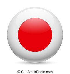 Rund glänzende Ikone von Japan