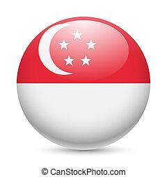 Rund glänzende Ikone von singapore