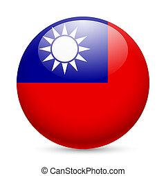 Rund glänzende Ikone von Taiwan