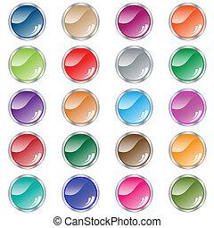 Rund-Web-Knöpfe mit 20 in verschiedenen Farben