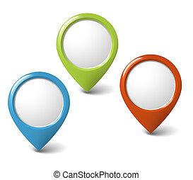 Runde 3D-Pointer mit Platz für deinen Inhalt