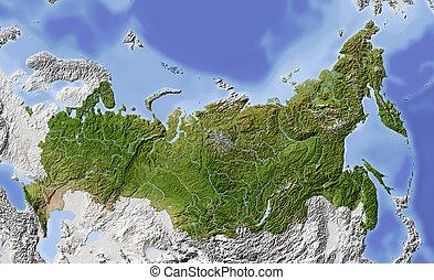 Russland, abgeschirmte Landkarte