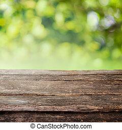 Rustische Holzland Zaunplanke oder Tischplatte.