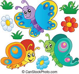 Süße Schmetterlingesammlung 3