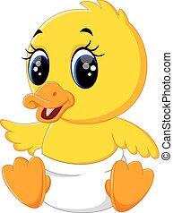 Süßer Baby-Enten-Cartoon.