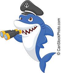 Süßer Hai-Cartoon mit Bingo.