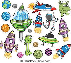 Süßes Weltraumvektor-Entwicklungssystem