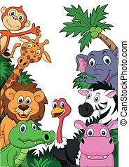 Safari-Tier-Karikatur Hintergrund