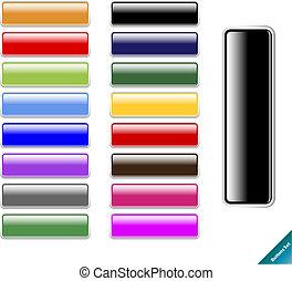 Sammeln von mehrfarbigen, glossy-Internetknöpfen. Leicht zu schneiden, egal welche Größe, Aqua Web-Stil 2.0.