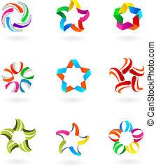 Sammlung abstrakter Symbole und Logos - 3