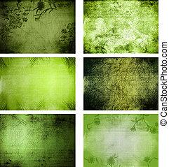 Sammlung von grunge Hintergrundtexturen.