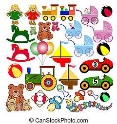 Sammlung von Spielzeug