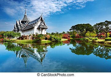 sanphet, palast, prasat, thailand