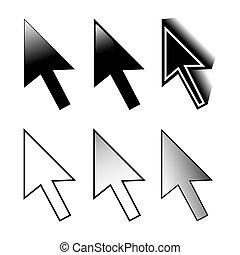 Satz der Maus 6 Pfeil Cursor Variationen.