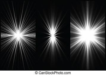 satz, hintergrund., vektor, beleuchtung, schwarz, weißes